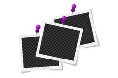 Collage dei telai quadrati con le ombre su bianco royalty illustrazione gratis