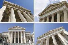 Collage dei tribunali Fotografia Stock