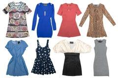 Collage dei vestiti delle donne Fotografia Stock Libera da Diritti