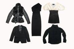 Collage dei vestiti delle donne Immagini Stock Libere da Diritti
