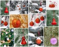 Collage del Año Nuevo. Foto de archivo