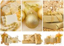 Collage del Año Nuevo Imagenes de archivo