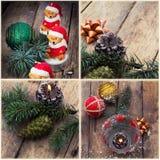 Collage del Año Nuevo Imágenes de archivo libres de regalías
