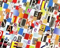Collage del ABC Imagen de archivo libre de regalías