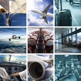 Collage del aeropuerto del asunto fotografía de archivo libre de regalías