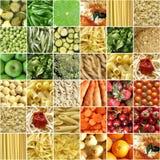 Collage del alimento Fotografía de archivo