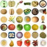 Collage del alimento aislado fotos de archivo