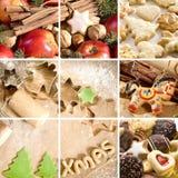 Collage del alimento de la Navidad Foto de archivo