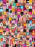 Collage del arte Imagenes de archivo