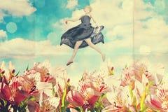 Collage del arte con la mujer hermosa Imagenes de archivo