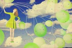 Collage del arte con la mujer hermosa, trabajo creativo foto de archivo