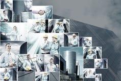 Collage del asunto Imagenes de archivo