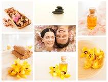 Collage del balneario Imagen de archivo libre de regalías
