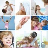 Collage del bambino fotografie stock libere da diritti