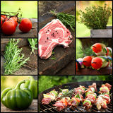 Collage del BBQ Fotografia Stock Libera da Diritti