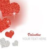Collage del biglietto di S. Valentino Fotografie Stock Libere da Diritti