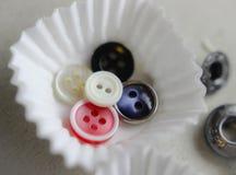 collage del biscotto del dolce dei dolci del bottone immagini stock