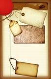 Collage del blocchetto per appunti Immagine Stock
