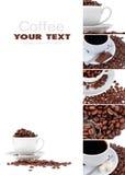 Collage del caffè Fotografie Stock