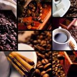 Collage del caffè Immagine Stock