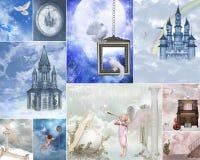 Collage del cancello di cielo Fotografia Stock Libera da Diritti