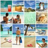 Collage del centro turístico Imagen de archivo libre de regalías