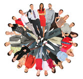 Collage del cerchio della gente della folla Fotografie Stock Libere da Diritti
