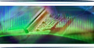Collage del chip de ordenador stock de ilustración