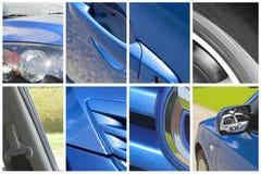 Collage del coche Fotografía de archivo