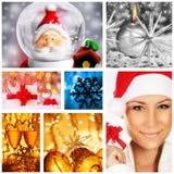 Collage del concepto de los días de fiesta de invierno Imágenes de archivo libres de regalías
