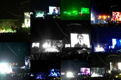 Collage del concierto de la curación en Chile Fotos de archivo libres de regalías