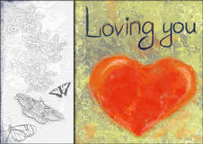 Collage del corazón Imagen de archivo