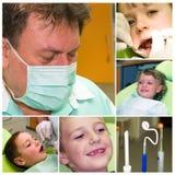 Collage del cuidado dental fotografía de archivo