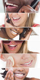 Collage del cuidado dental imagenes de archivo