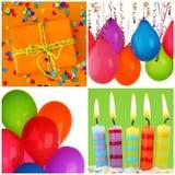 Collage del cumpleaños Fotografía de archivo libre de regalías
