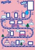 Collage del cumpleaños ilustración del vector