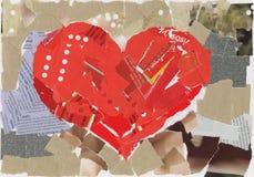 Collage del cuore fotografia stock libera da diritti