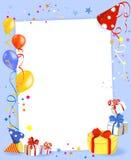 Collage del día de fiesta con los regalos y los globos Imagen de archivo libre de regalías
