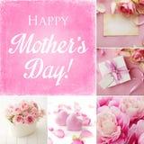 Collage del día de madres imagenes de archivo