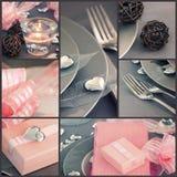 Collage del día de tarjeta del día de San Valentín Imagenes de archivo