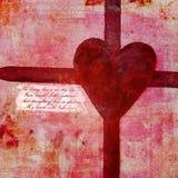 Collage del día de tarjeta del día de San Valentín Fotos de archivo