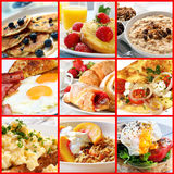 Collage del desayuno Foto de archivo