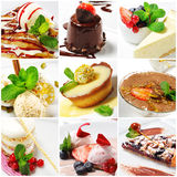 Collage del dessert Immagine Stock