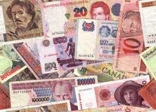 Collage del dinero en circulación Fotos de archivo libres de regalías