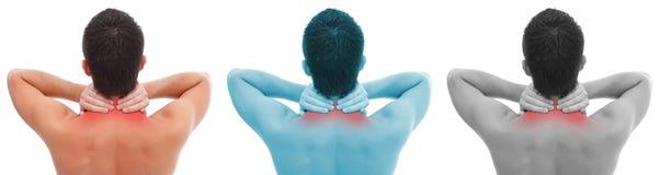 Collage del dolor de cuello Fotografía de archivo libre de regalías