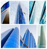 Collage del edificio fotografía de archivo