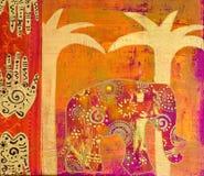 Collage del elefante Imagen de archivo libre de regalías