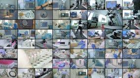 Collage del equipo del hospital Concepto de la medicina almacen de video