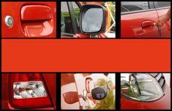 Collage del exterior del coche Imagen de archivo libre de regalías