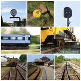 Collage del ferrocarril Foto de archivo libre de regalías